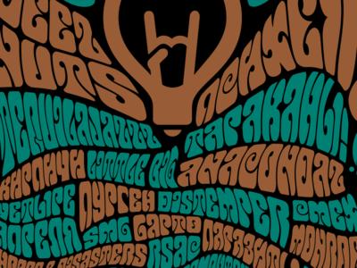 Hippie-style T-shirt t-shirt hippie ogni