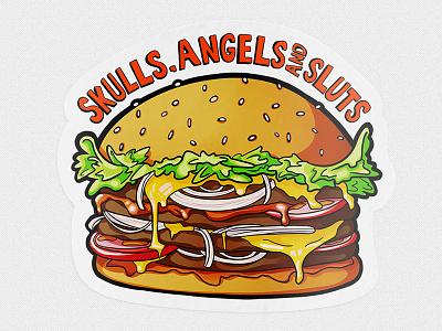 The burger sticker sticker