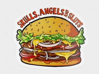 The burger sticker