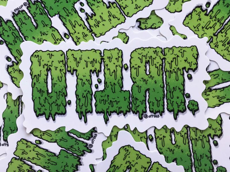 Blevosrak Stickers punkrock wastes toxic thrash sticker set stickerbomb diecut sticker