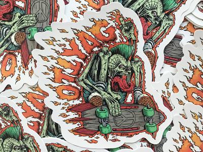 Ottyag Sticker skate rock skate thrash design studio designstudio branding stickerbomb sticker