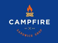 Campfire Sandwich Shop Logo