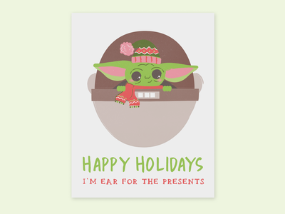 Baby Yoda Holiday Card