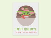 Baby Yoda Holiday Card