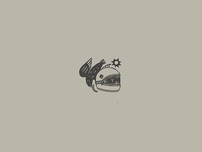tiny drawing 2 helmet branding vector illustration minimal