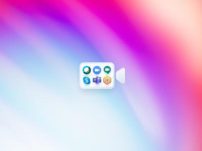 Meeting Portal Mac App Icon internal color colors gradient mac app designicon