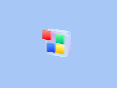 3D Window Logo spline 3d design minimal