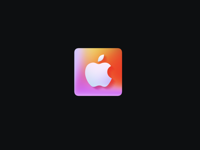 Apple Card Icon Made with Spline motion graphics graphic design pay apple gradient animation icon 3d logo design