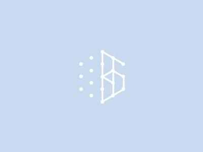 ВяткаБиоПром Re-Branding Concept Proposal dots minimal white milk yoghurt atoms science blue dairy snowflake logo