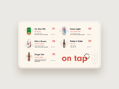 happy hour drink list layout typography website design tv ui list pastel color pastel minimal happy hour summer beer