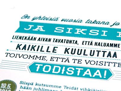 Wedding invitation typography design print