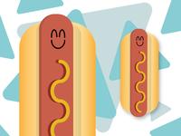 Happy hotdog