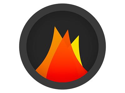 Charcoal Symbol (rebound) rebound icon flames minimal