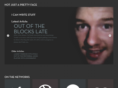 slider slideshow portfolio about me