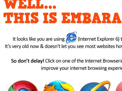 Ie6welcome ie6 browser choice welcome message