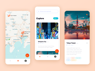 Experience Curation App travel app wanderlust curate experience travel mobile ui mobile app mobile clients design ux ui