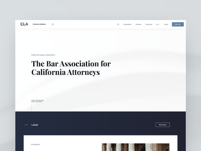 Lawyers Association Website desktop california law attorneys lawyers hero clients web design ux ui