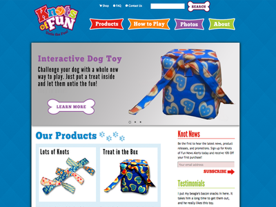 Knots of Fun Homepage Design
