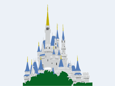 Cinderella Castle Disney World Vector Design