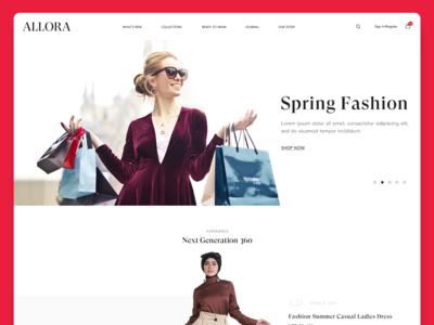 Allora Online Shopping Website Homepage Design