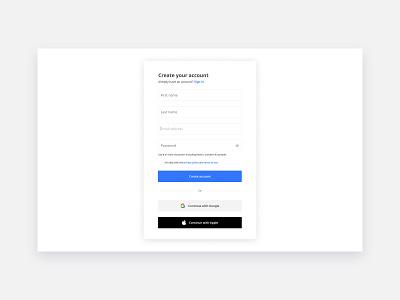 Sign Up Form create account register signupform sign up signup ui web registration form minimal flat design