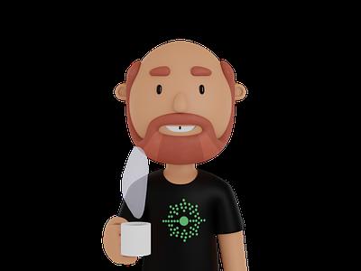 Coffee Avatar avatar illustration blender 3d