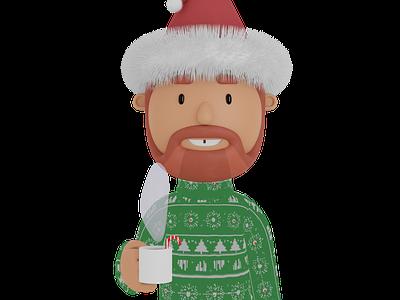 Virtual Ugly Christmas Sweater zoom charicature ugly christmas sweater blender illustration 3d