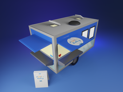 Food Cart food cart design blender illustration 3d
