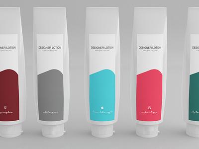 Designer lotion bottles! product shot blender illustration 3d
