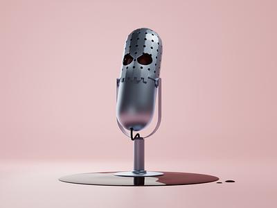 Killer Podcast blender illustration 3d
