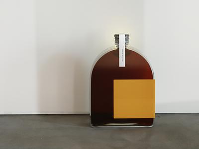 Very Fine Whiskey Bottle product shot blender illustration 3d