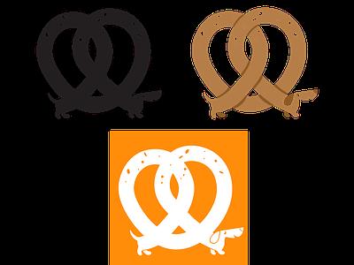 Pretzel Dog Marks branding logo illustration