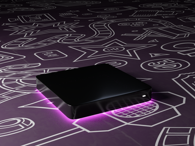 Streaming Box Render product shot illustration 3d