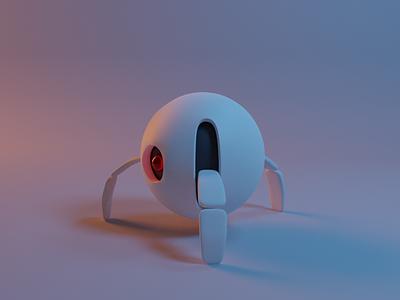Here to Help! robot illustration blender 3d