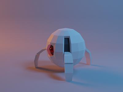 Beep boop robot blender low poly illustration 3d