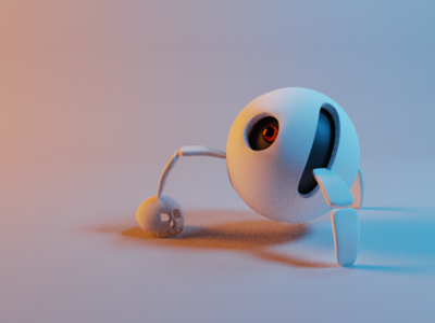 murderbot 1 robot blender illustration 3d