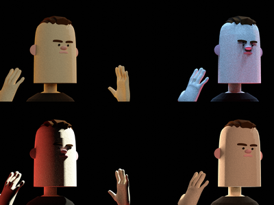 Master of Muppets game character illustration blender low poly 3d