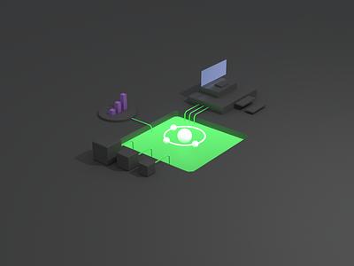 3D Viz blender 3d