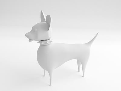 Heading into Friday and feeling good dog doggo illustration blender 3d