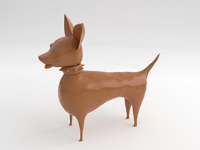 Clay Dog dog low poly blender illustration 3d