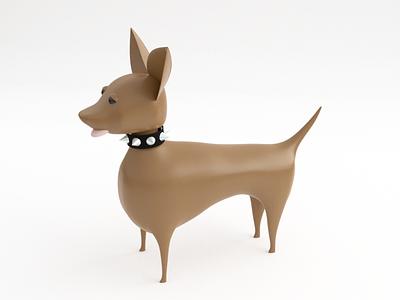 Basic Colors dog low poly blender 3d