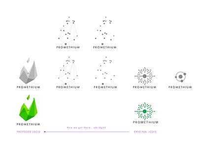 Promethium Logos (in progress) design branding vector logo