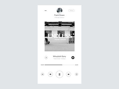 Day 009 Daily UI - Music App dailyui ui 009 apple spotify minimal clean white interface app music