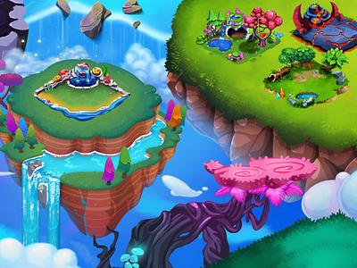 Dragon Castle Game art 2d art isomatric