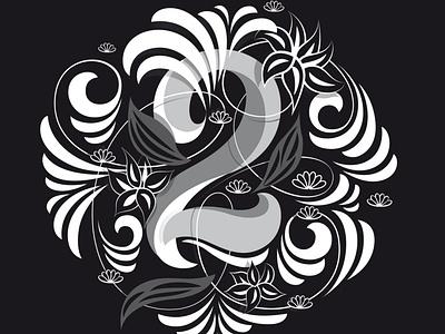 2 illustration flourishes script lettering