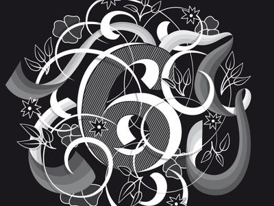 6 illustration flourishes lettering