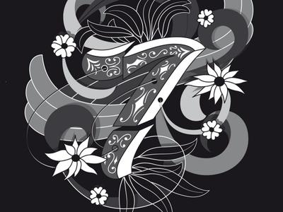 7 illustration flourishes lettering