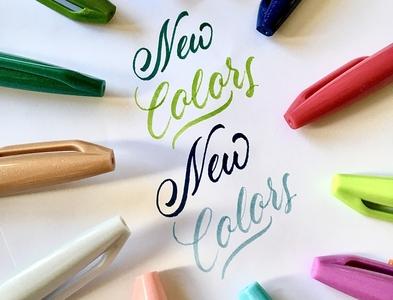 colors brushlettering brush lettering