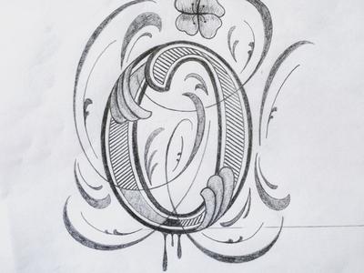 O illustration flourishes lettering