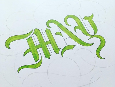 MAY flourishes lettering